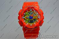 Спортивные часы с водозащитой Casio G-Shock Ga-110 Orange оранжевые, фото 1