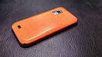 Декоративная защитная пленка для Samsung i500 Galaxy S оранжевый блеск, фото 1