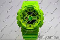 Спортивные часы противоударные Casio G-Shock Ga-110 Lime салатовые