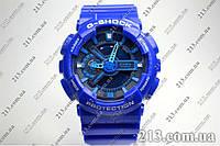 Спортивные часы противоударные Casio GA-110HC-2AER синие, фото 1