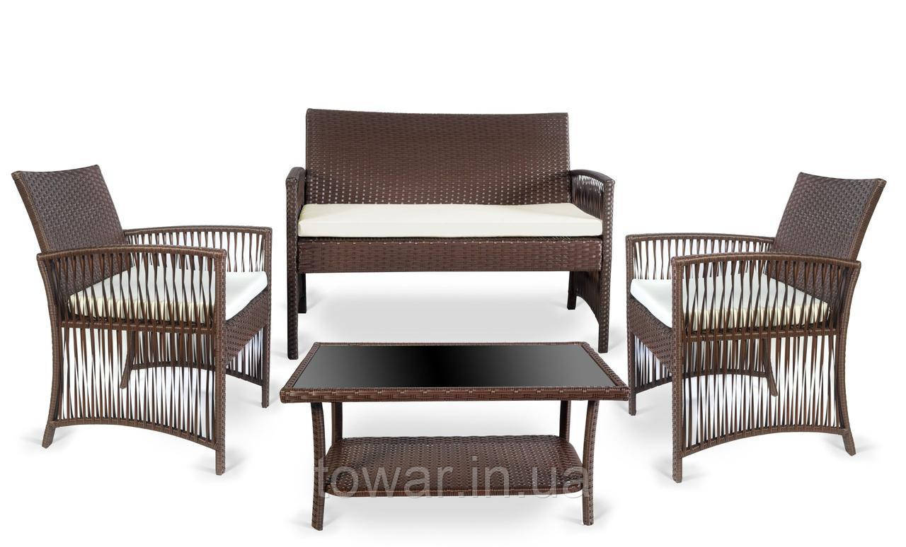 Набор садовой мебели TASOS коричневый