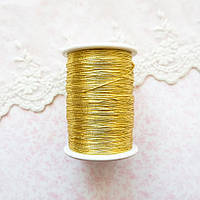 Металлизированная нить для вышивки, Индия, 0.5 мм - золото
