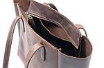 Кожаная сумка VS224 brown 36х18,5х16 см, фото 4