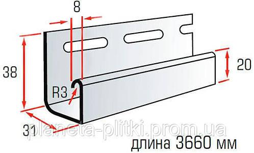 Планка J-trim Kanada Плюс, Престиж, 3,66 м