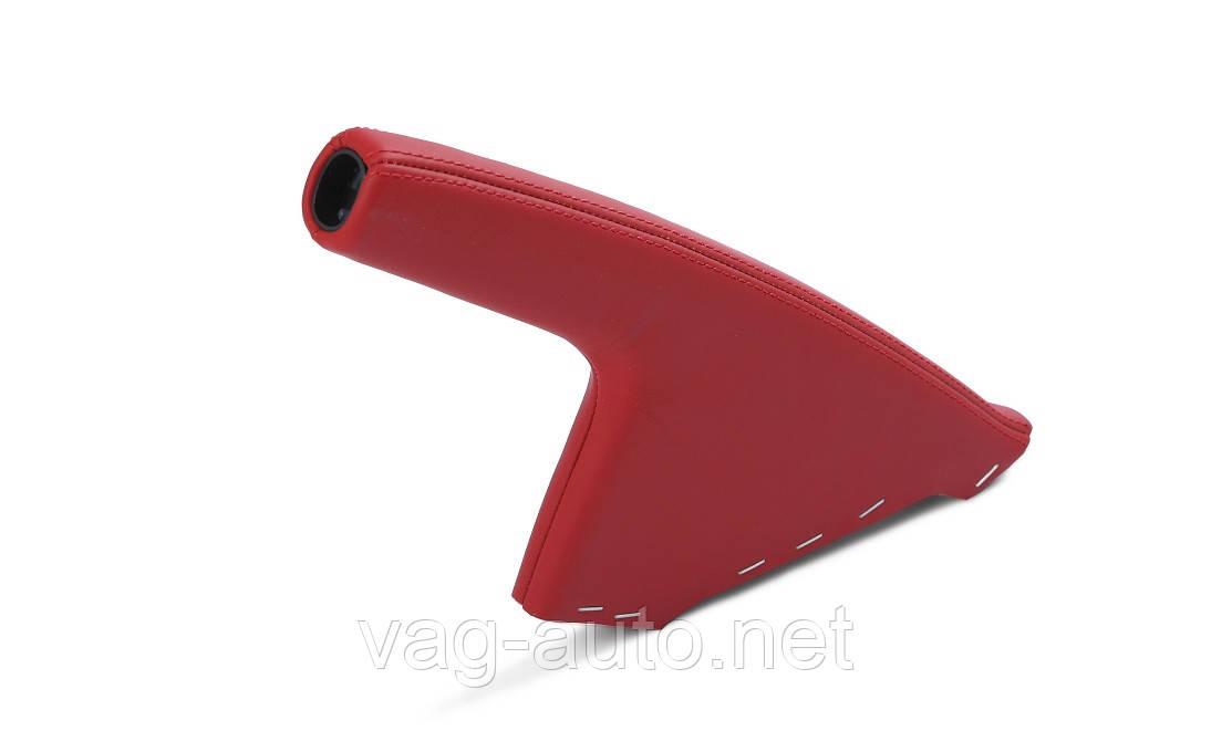Рукоятка ручного тормоза - красная кожа Skoda Rapid