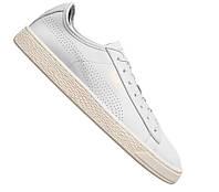 100% Оригинал Кеды сникерсы на шнурках светлые белые из супер мягкой кожи PUMA Basket