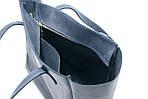 Кожаная сумка VS224 blue 36х18,5х16 см, фото 3