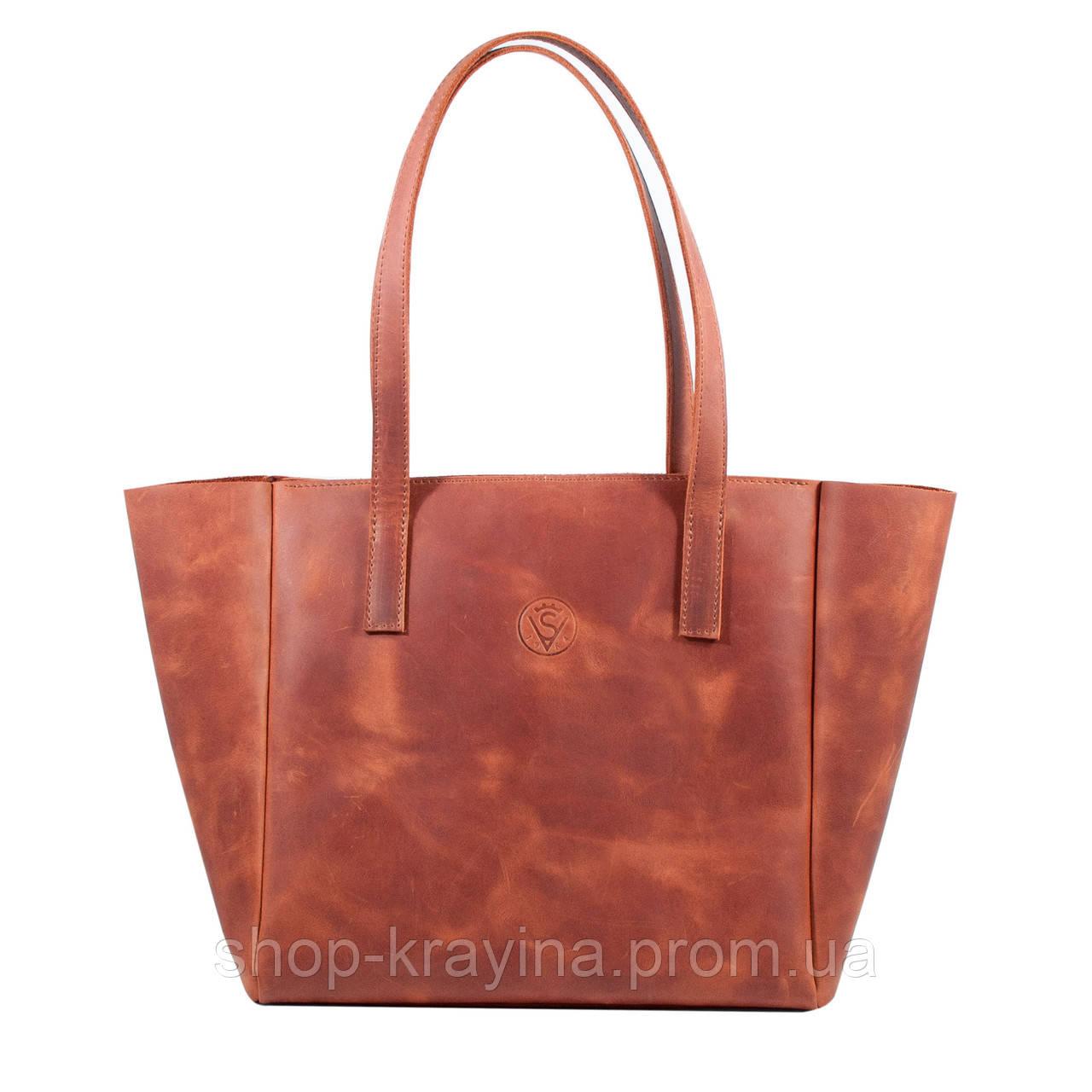 Кожаная сумка VS224 ginger 36х18,5х16 см