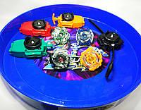 МЕГА набор BeyBlade: 4 волчка, 4 запускатора (3 шнуровочных), БОЛЬШАЯ АРЕНА, фото 1