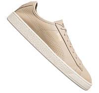 100% Оригинал Кеды сникерсы на шнурках светлые бежевые из супер мягкой кожи PUMA Basket