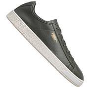 100% Оригинал Кеды сникерсы на шнурках чёрные из супер мягкой кожи PUMA Basket