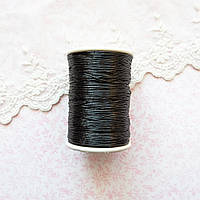 Металлизированная нить для вышивки, Индия, 0.5 мм - черная
