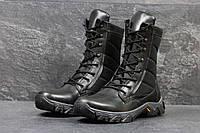 Мужские кожаные ботинки,берцы черные