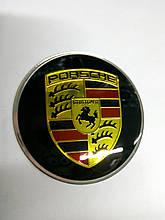 3D наклейки на диски и колпаки PORSCHE металл  56 мм  и  65 мм   2 цвета