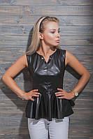 Кожаная блуза женская модельная