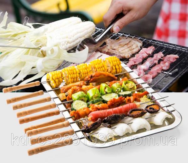 Шампура для овощей и море продукты 40см 12шт