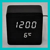 Настольные часы с белой подсветкой VST-872-6