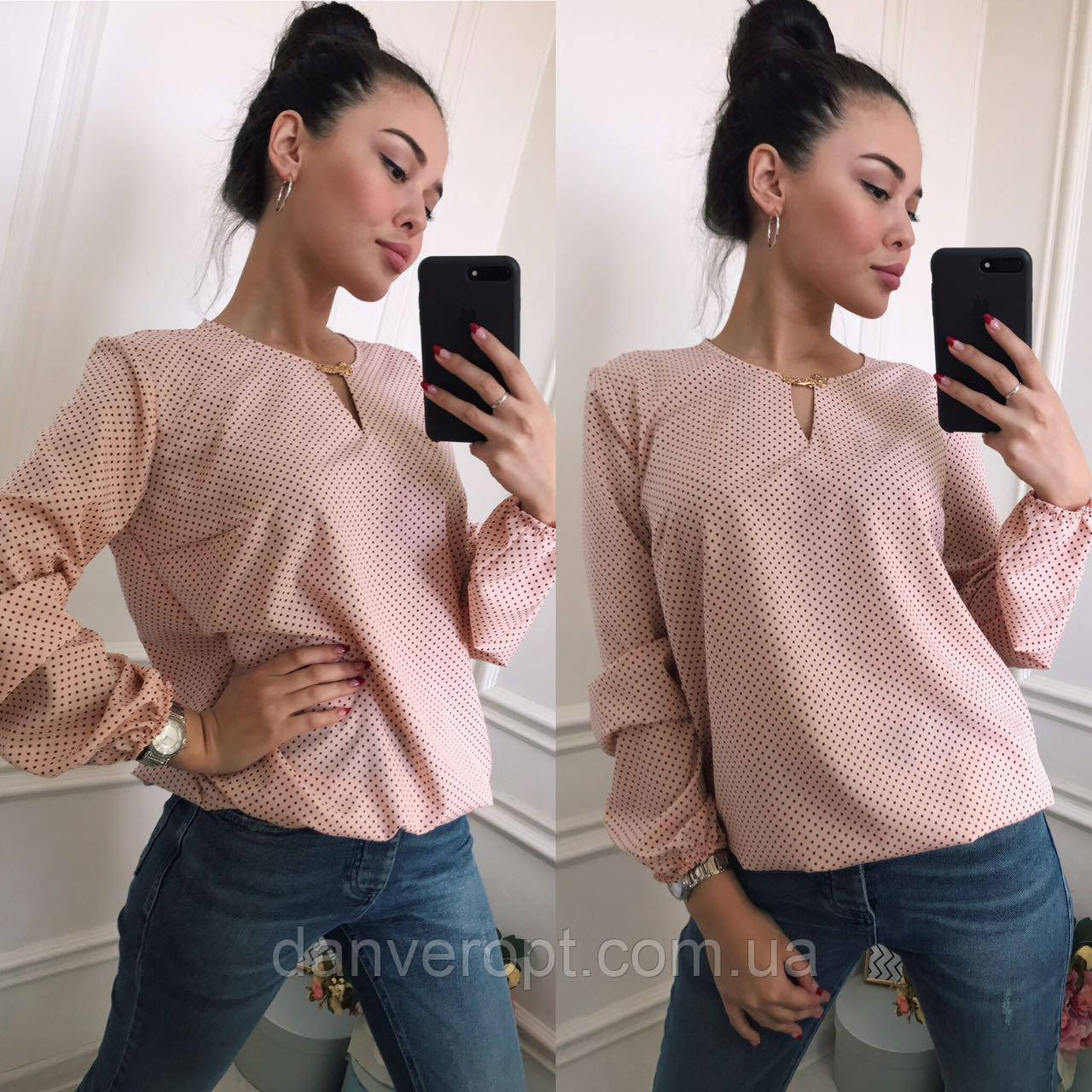 10ad61feef8d0 Блузка женская модная размер батал 50-56 купить оптом со склада 7км Одесса  - DANVERopt