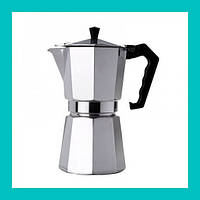 Гейзер кофеварка UNIQUE UN-1912 (KP1-6) алюминий!Акция