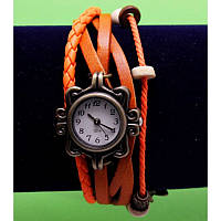 """Жен.Фенечки-R196-1Женские наручные часы-браслет с бусинами, шнурами и подвесками """"Ньюкасл"""", красный"""