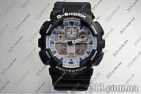 Спортивные часы противоударные водонепроницаемые Casio G-Shock Ga-100 Black White