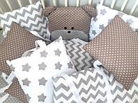 Бортики защита в детскую кроватку  (состав в описании)
