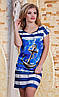 Платье с якорем батал  р2856