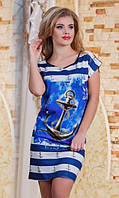 Платье с якорем батал  р2856, фото 1
