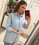 Женская стильная удлиненная блуза/рубашка (3 цвета), фото 2