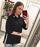Женская стильная удлиненная блуза/рубашка (3 цвета), фото 9
