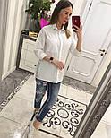 Женская стильная удлиненная блуза/рубашка (3 цвета), фото 7