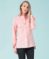 Стильная рубашка на кнопках розового цвета. Модель 17798. Размеры 42-48, фото 1