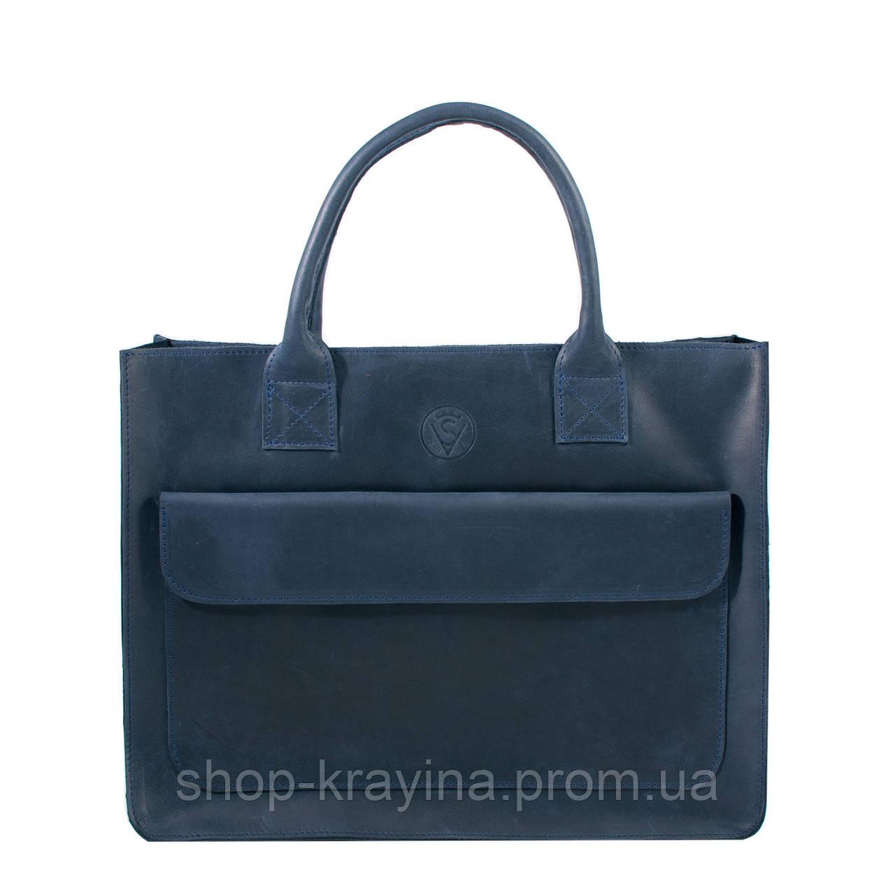 Портфель для документов VS231 blue  35х27х9 см