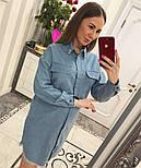 Женское стильное джинсовое прямое платье, фото 2