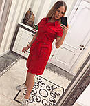 Женское стильное платье-рубашка с поясом (в расцветках), фото 7