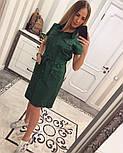 Женское стильное платье-рубашка с поясом (в расцветках), фото 10