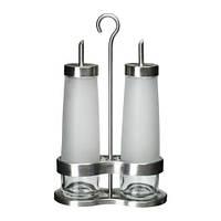 DROPPAR Набор для масла/уксуса,матовое стекло, нержавеющ сталь, фото 1