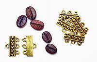 Бусина-разделитель металлическая золотая 13х19х2,5мм