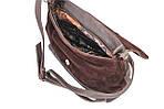 Кожаная сумка VS238 brown suede 27х23х9 см, фото 4