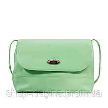 Кожаная сумка VS238 light green 27х23х9 см