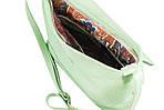 Кожаная сумка VS238 light green 27х23х9 см, фото 4