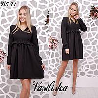 Свободное платье из костюмной ткани ан-180368-2