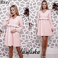 Свободное платье из костюмной ткани ан-180368-4