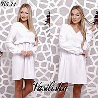Свободное платье из костюмной ткани ан-180368-5