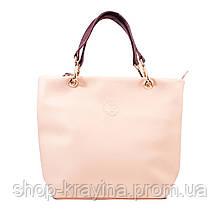 Кожаная сумка VS239 powder 27х23х9 см
