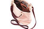Кожаная сумка VS239 powder 27х23х9 см, фото 3