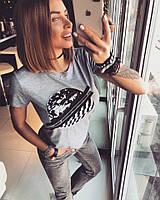 Модная женская футболка с принтом тв-03035-1, фото 1