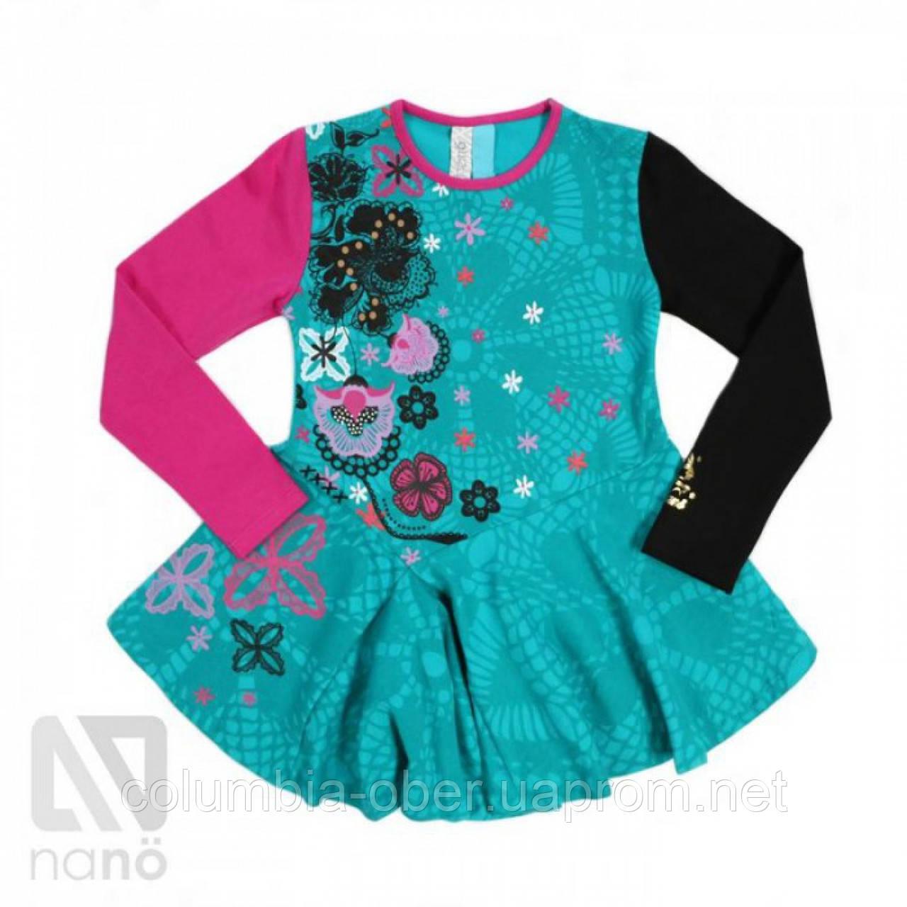 Платье-туника для девочки Nano F1420-04 Peacock. Размеры 92-142.