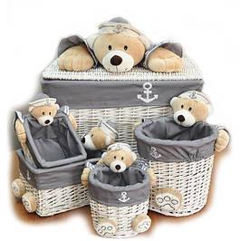 Пуфы, корзины и ящики для игрушек