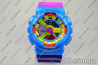 Яркие часы Casio G-Shock Ga-110 Azure-Rose , фото 1